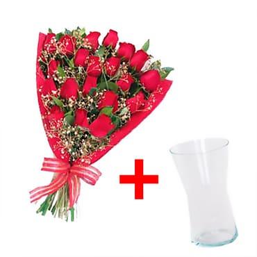 24 Rosas <BR><B>JARRON GRATIS</b>